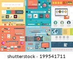 one page website design... | Shutterstock .eps vector #199541711