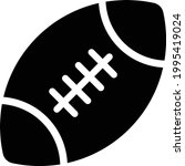 rugby vector glyph flat icon   Shutterstock .eps vector #1995419024