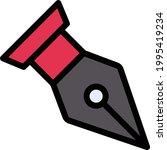 pen nib vector line colour icon   Shutterstock .eps vector #1995419234