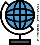 globe vector line colour icon   Shutterstock .eps vector #1995419261