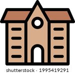 school vector line colour icon   Shutterstock .eps vector #1995419291
