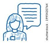 female worker talk sketch icon...   Shutterstock .eps vector #1995420764