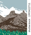 wpa poster art of chimney rock...   Shutterstock .eps vector #1995422711