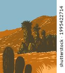 wpa poster art of cactus and...   Shutterstock .eps vector #1995422714