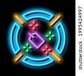label target aim neon light...   Shutterstock .eps vector #1995424997
