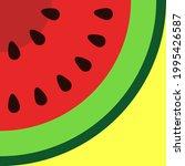 watermelon icon symbol for... | Shutterstock .eps vector #1995426587