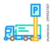 truck parking color icon vector....   Shutterstock .eps vector #1995427307