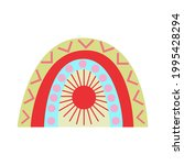 abstract rainbow in a... | Shutterstock .eps vector #1995428294