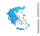 greece blue stylised vector map   Shutterstock .eps vector #1995437171