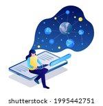 isometric illustration design... | Shutterstock .eps vector #1995442751