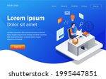 isometric illustration design...   Shutterstock .eps vector #1995447851