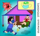 vector cartoon character for... | Shutterstock .eps vector #1995450491