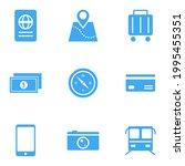 travel icon set. train  bus ...   Shutterstock .eps vector #1995455351