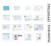 pack of data analytics flat...   Shutterstock .eps vector #1995457061