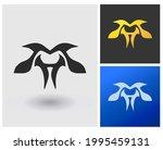 logo mh initial monogram modern ...   Shutterstock .eps vector #1995459131