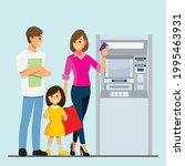 family customer standing near... | Shutterstock .eps vector #1995463931