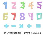 vector   cute letter number... | Shutterstock .eps vector #1995466181