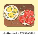 a sandwich. gluten free rice... | Shutterstock .eps vector #1995466841