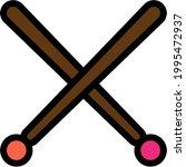 pair of drumsticks simple...   Shutterstock .eps vector #1995472937