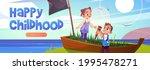 happy childhood cartoon web... | Shutterstock .eps vector #1995478271