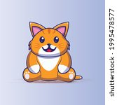 cat cute cartoon illustration... | Shutterstock .eps vector #1995478577