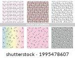 set of six vector seamless... | Shutterstock .eps vector #1995478607