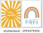 nursery  sunshine print  baby... | Shutterstock .eps vector #1995479354