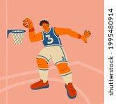 basketball player. tall man... | Shutterstock .eps vector #1995480914