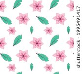 seamless pattern with tropical... | Shutterstock .eps vector #1995491417