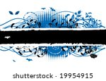 floral silhouette | Shutterstock .eps vector #19954915