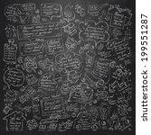 doodle. vector format  | Shutterstock .eps vector #199551287