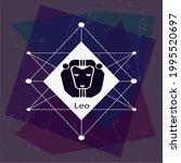 leo horoscope sign  creative...   Shutterstock .eps vector #1995520697
