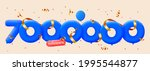 7000000 followers thank you 3d...   Shutterstock .eps vector #1995544877