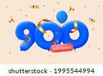 900 followers thank you 3d blue ... | Shutterstock .eps vector #1995544994