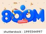 800m followers thank you 3d... | Shutterstock .eps vector #1995544997