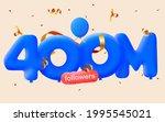 400m followers thank you 3d... | Shutterstock .eps vector #1995545021