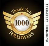 1000 followers with thank you... | Shutterstock . vector #1995545681