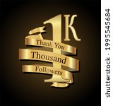 1000 followers with thank you... | Shutterstock . vector #1995545684
