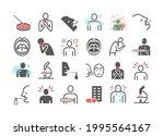 tonsillitis. symptoms ... | Shutterstock .eps vector #1995564167
