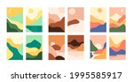 abstract landscape. vector set... | Shutterstock .eps vector #1995585917