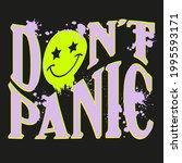 neon graffiti slogan print with ... | Shutterstock .eps vector #1995593171