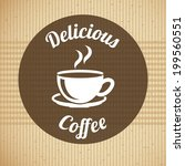 coffee design over beige... | Shutterstock .eps vector #199560551