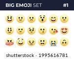 emoji smiles emoticons set...
