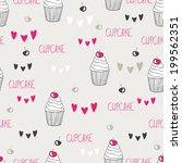 beautiful yummy cupcake...   Shutterstock .eps vector #199562351