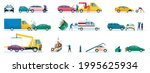 car accidents. damaged or... | Shutterstock .eps vector #1995625934
