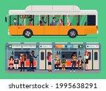 set of vector public transit... | Shutterstock .eps vector #1995638291