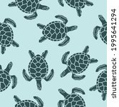 seamless pattern with sea... | Shutterstock .eps vector #1995641294