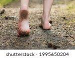 Woman Legs Walking In Summer...