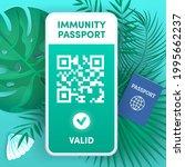 electronic covid 19 immunity... | Shutterstock .eps vector #1995662237