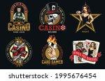 casino vintage colorful emblems ... | Shutterstock .eps vector #1995676454